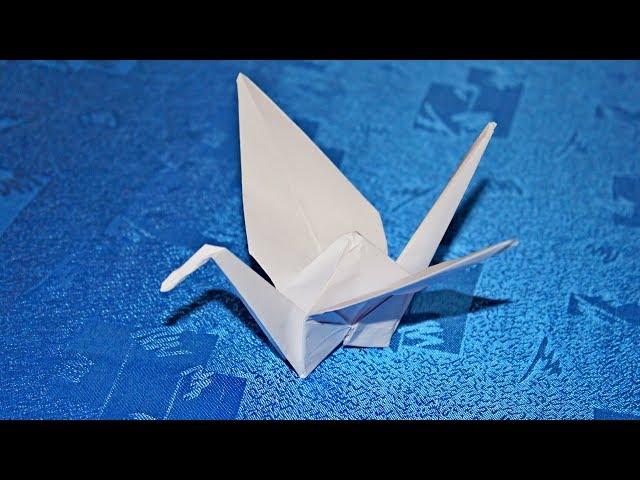 Журавлик из бумаги оригами -