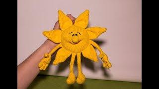 Игрушка Солнышко (вязание крючком)