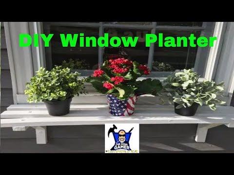 DIY Window Planter, Planter Box For Under Your Windows