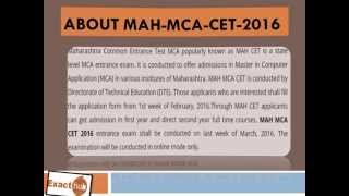 MAH MCA Entrance Exam