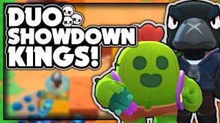 DUO SHOWDOWN KINGS! TAKING FIRST PLACE EVERY GAME WITH CROW & SPIKE! + Gameplay! - Brawl Stars
