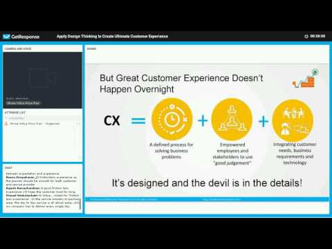 Webinar Recording   Apply Design Thinking To Create Ultimate Customer Experience final