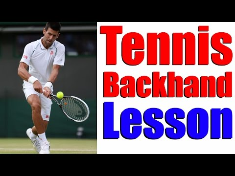 Tennis Backhand - How To Hit A Two Handed Backhand Even If Beginner