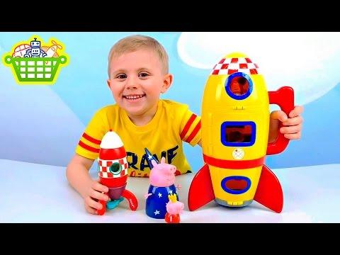 Свинка Пеппа и Джордж лепят планшет из Плей До Peppa Pig Play Doh Мультик из игрушек - Серия 99
