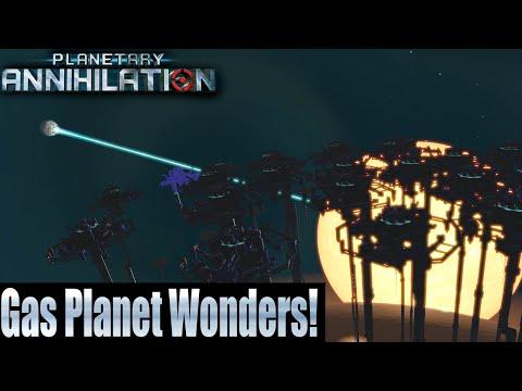 Planetary Annihilation 10 Player FFA - Gas Planet Wonders!