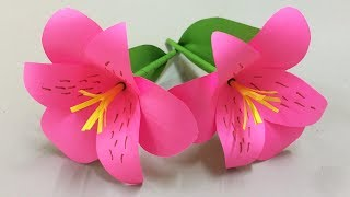 How to Make Beautiful Flower with Paper - Making Paper Flowers Step by Step - DIY Paper Flowers #8