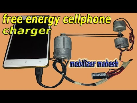 """UNLIMITED PHONE BATTERY CHARGER!!  FREE ENERGY MOTOR GENERATOR """"amazing mobile charger"""""""
