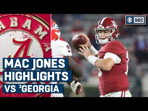 Mac Jones vs. #3 Georgia Bulldogs Highlights: Jones throws for over 400 yards | CBS Sports HQ