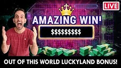 🔴💰 LIVE ONLINE SLOTS 🎰 OUT OF THIS WORLD BONUS!! 👽 PlayLuckyLand Social Casino #AD