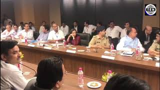 Visuals of UP CM Yogi Adityanath conducting meeting with Authority Officials | Greater Noida