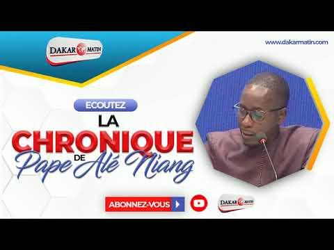Chronique du 19 avril 2020 : Pape Alé Niang revient sur le scanndale du trafic de médicaments