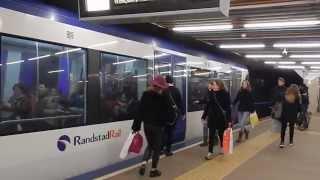 RET metro type RSG3 op metrolijn E (Randstadrail) station Rotterdam Centraal