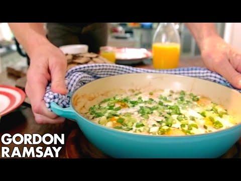 Smoked Haddock & Spinach Baked Eggs | Gordon Ramsay