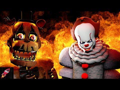 IT PENNYWISE Vs FREDDY FAZBEAR Rockit Gaming Music  SFM FNAF Movie 3D Animation