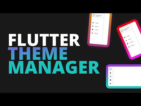 Flutter Theme Manager for Multiple Themes