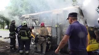 Пожежа маршрутного таксі №12 в м. Чернігові