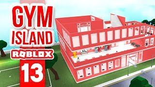 BUILDING THE THIRD FLOOR - Roblox Gym Island #13