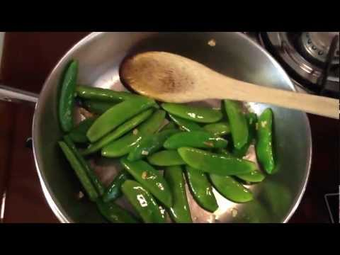 Cooking from my Garden - Easy Sugar Snap Pea Recipe