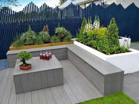 Plans for a plastic wood bench with backrest youtube for Garden decking composite