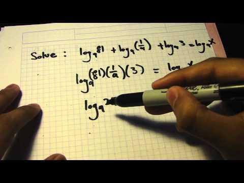 IB MATH SL Logs tutorial