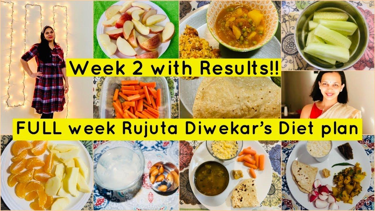 WEEK 2 : I Tried RUJUTA DIWEKAR'S Weight-Loss Diet plan  /RUJUTA DIWEKAR'S Healthy Indian diet plan
