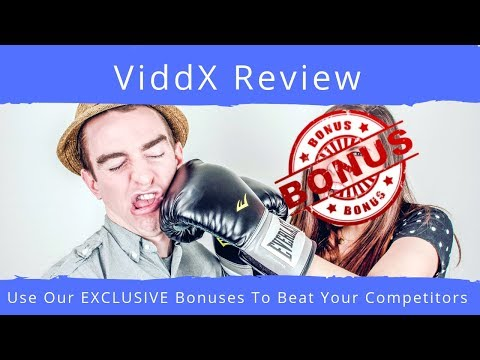 ViddX Review With EXCLUSIVE BONUSES. http://bit.ly/2zsLjhc