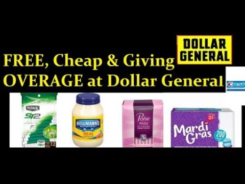 Free & Cheap At Dollar General Ends 12/?/17