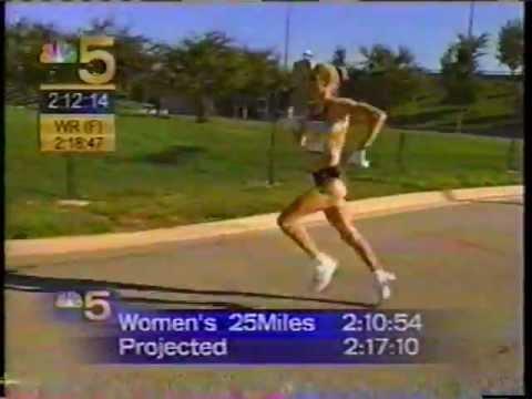 RADCLIFFE world record @ 2002 CHICAGO MARATHON
