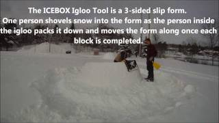 How To Build An 8 Foot Wide Igloo (part 1 - Time Lapse)