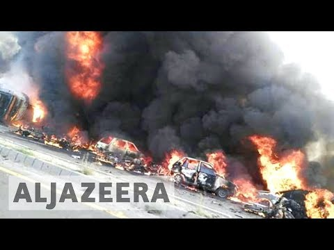 Pakistan fuel tanker crash burns scores to death