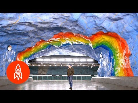 Brighten Your Day With Stockholm's Metro Art