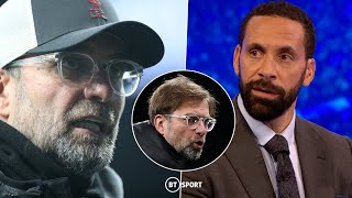 """I want to see my manager angry!"" Ferdinand, Owen and Crouch back Klopp to turn Liverpool around"