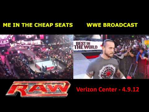 The View From The Cheap Seats - WWE RAW, 4.9.12, Verizon Center, DC