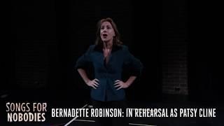 Bernadette Robinson sings as Patsy Cline
