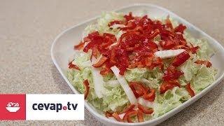 Çin marulu salatası nasıl yapılır?