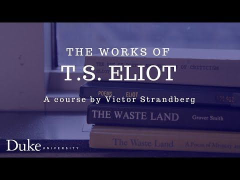 The Works of T.S. Eliot 02: Eliot's biography
