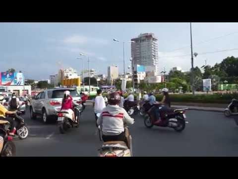 Ben Thanh Market to McDonalds Ride Saigon 2014 Vietnam
