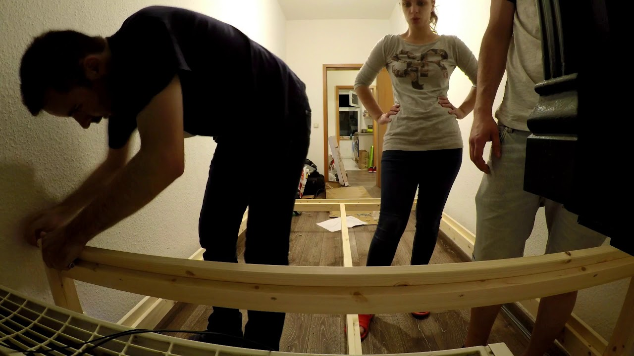 Neiden Ikea Bed Assembly Time Lapse Youtube