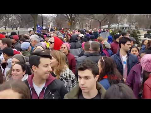 4th wave feminist protest in Washington DC January 21st 2017