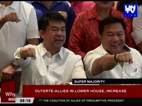 Duterte-allies in Lower House, increase