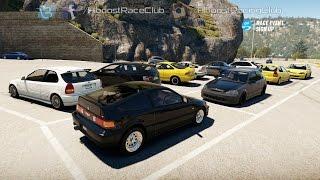 Forza Horizon 2 (XB1) | Honda Meet | K20 CRX Build, Roll & Drag Racing, New Spot & More
