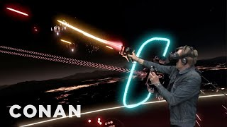 YouTube VR Lab Outtake: Conan Plays