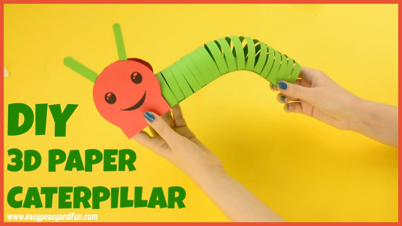 How To Make A Paper Caterpillar Craft For Kids Youtube