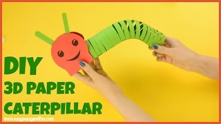 How to Make a Paper Caterpillar - craft for kids