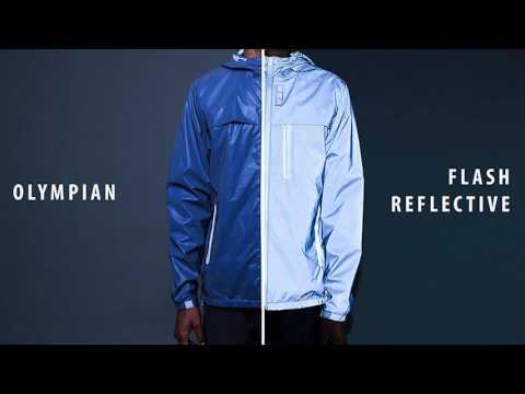 The Ultimate Lumen Jacket / Glow in the dark / reflective /water repellent Jacket