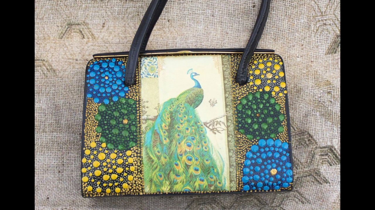 52 Decoupage Of Leather Purse Textile Bag Recycling Old Bags Diy Ideas