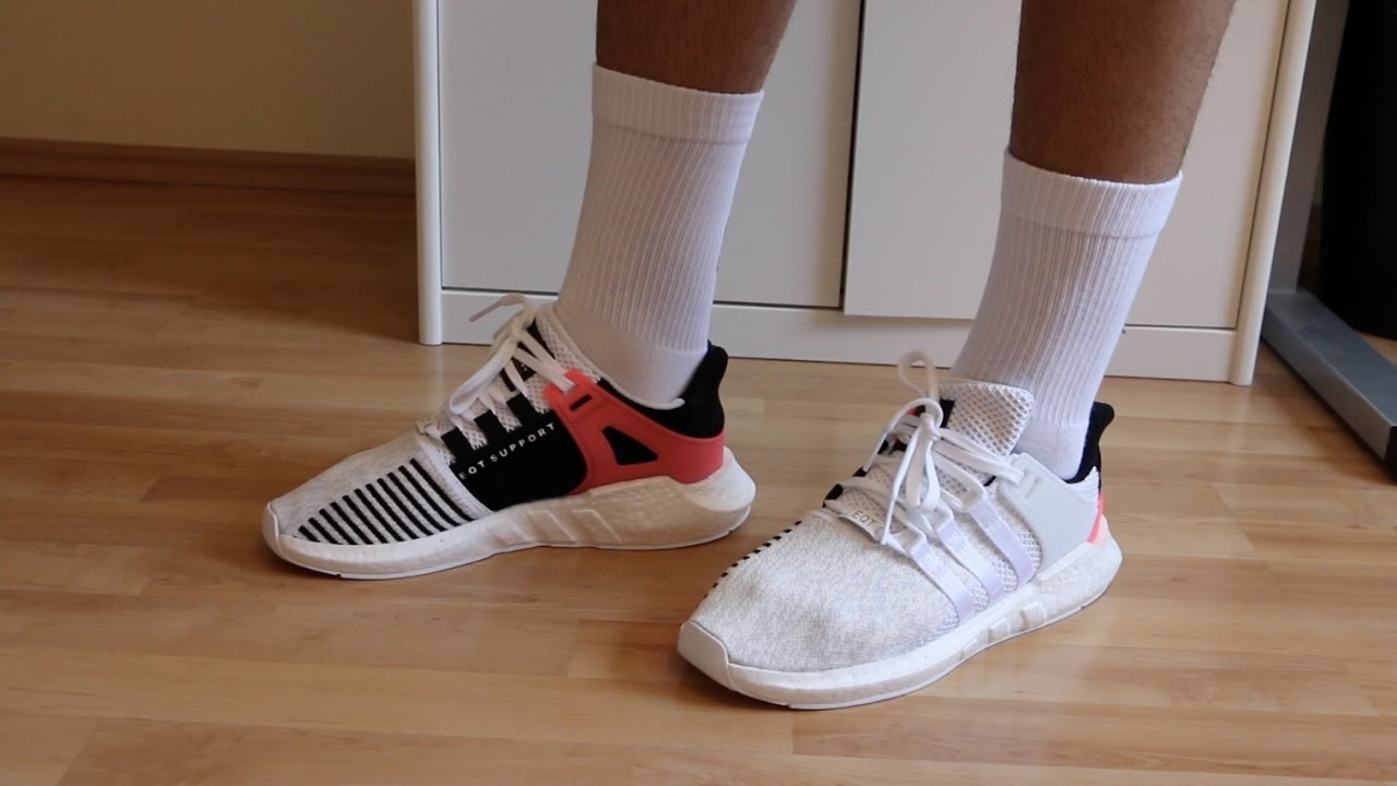 963633925ac3 ADIDAS EQT SUPPORT 93 17 BOOST (WHITE TURBO) REVIEW+ ON FEET ...