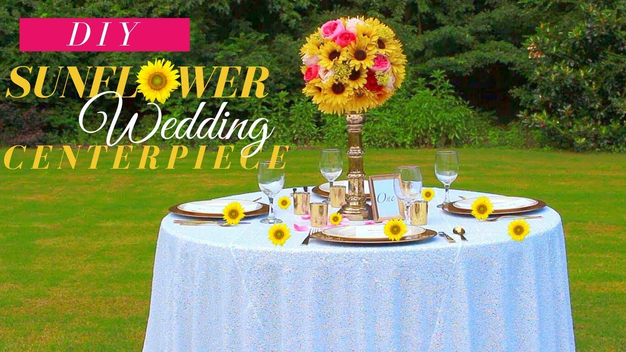 Diy Tall Sunflower Wedding Centerpiece Fall Wedding Decoration