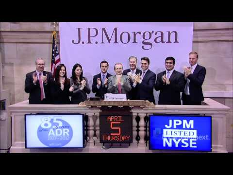 J.P. Morgan's American Depositary Receipt (ADR) rings the NYSE Closing Bell
