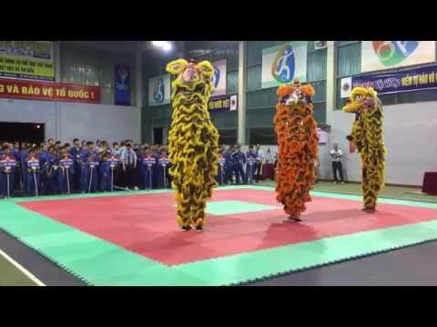 Giải Vovinam Quảng Bình 2018 | Biểu diễn khai mạc múa lân